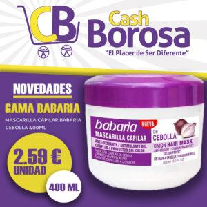 Mascarilla Cebolla Cash Borosa