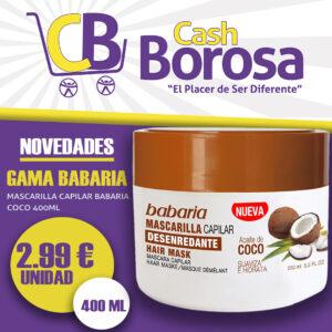 Mascarilla de aceite de coco Cash Borosa