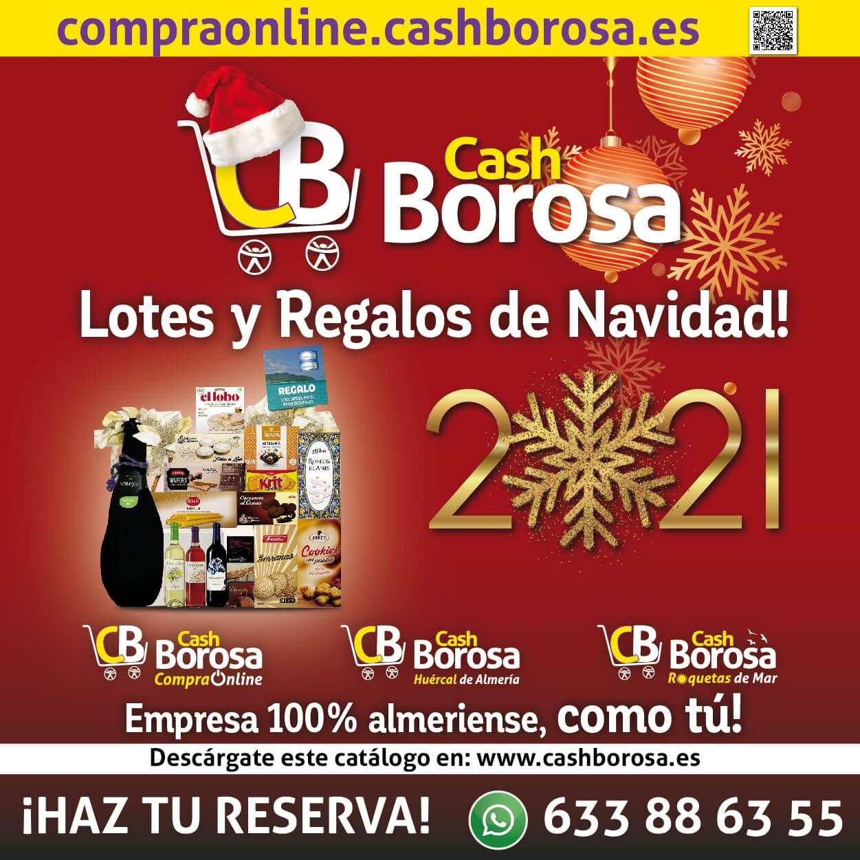 cartel de reserva de Cestas y lotes de navidad de Cash Borosa 2021