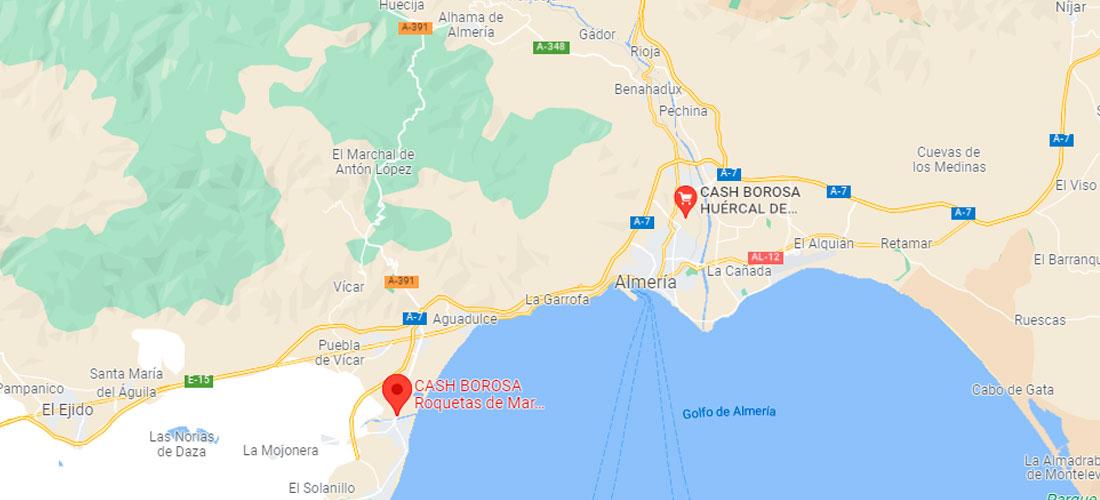 Localización Centros Cash Borosa